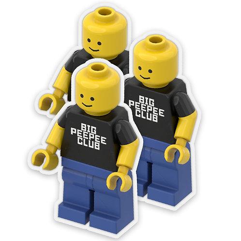 Big Peepee Club© Brick Man Sticker Pack