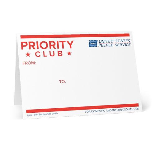 Big Peepee Club© 228 Greeting Cards (Pack of 8)