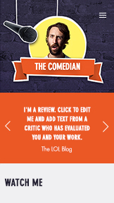 Creative Arts website templates – Comedian