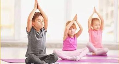 Children doing yoga