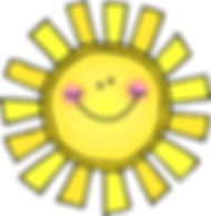 Logo of sun with a smiley face.