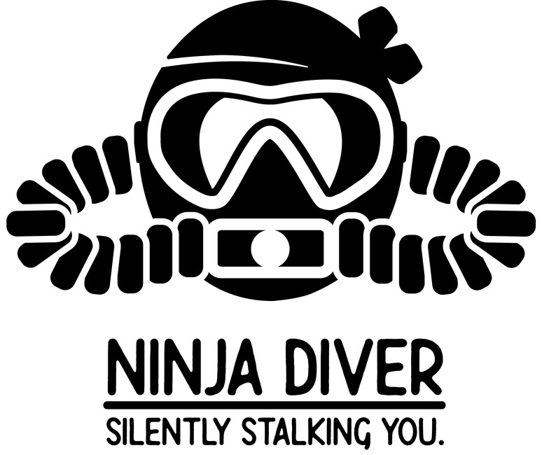 Ninja Diver Logo for T-shirt