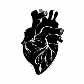 Magic heart postcard