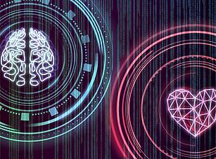 heart, brain, mind, beginner, starting point, red, pink, black, blue, green, neural network