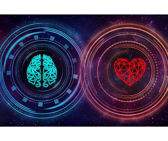 brain heart connection, mind, heart centre, coherence, balance, physiology, psychology, psychophysiology, heartmath, mental state, mindset, heart brain connection, communication, neural network, heart rate variability biofeedback, biofeedback, red, purple, turquoise, blue, navy, neon, orange, pink,