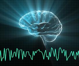 brain, pulse, brain activity, electromagnetic field, blue, black, green, intermediate