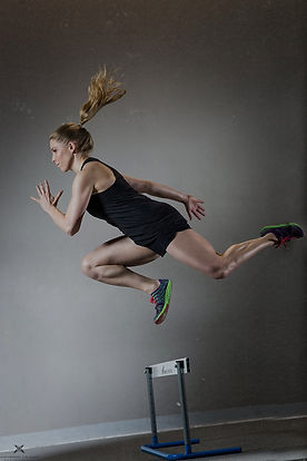 athlete, hurdle, sprinting, jumping, peak performance, sport athlete, high performance athlete, under armor, new balance shoes, woman, blonde, lululemon short, track, figure skater, speed work