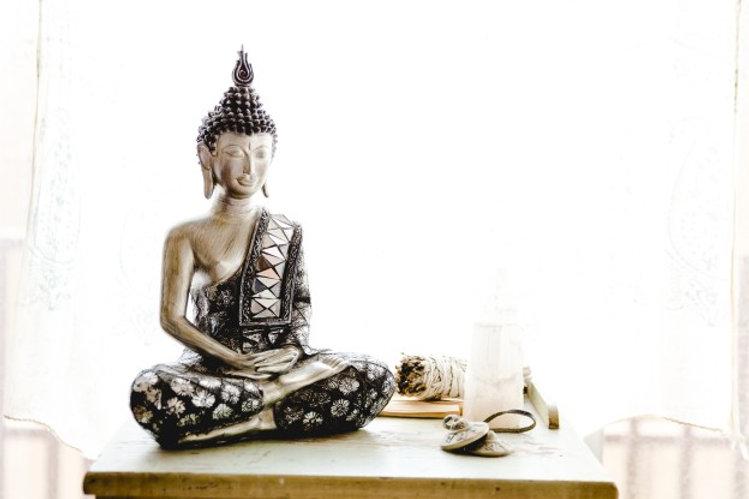Buddha, selenite, crystal, peacefulness, calm, meditation, inner knowing, white, Buddha statue, sage,