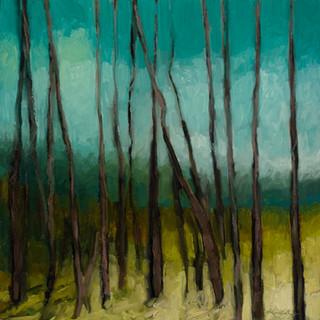 Cathedral Series Finding a Path 1 Oil on