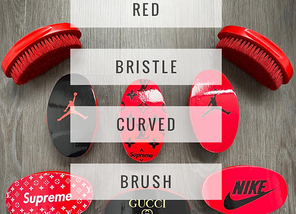 Red Bristle Curved Brush Collection (Click here for more styles)