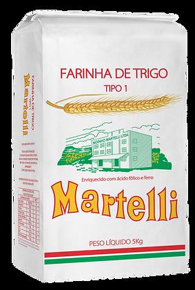 FARINHA DE TRIGO MARTELLI TIPO 1 5KG