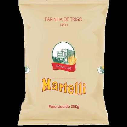 FARINHA DE TRIGO MARTELLI TIPO 1 25KG KC