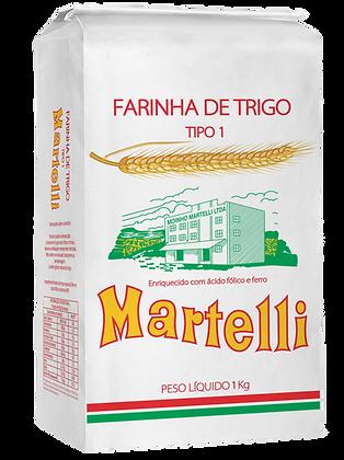 FARINHA DE TRIGO MARTELLI TIPO 1 1KG