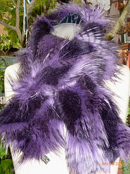 Neck Snuggly Purple Feathered.JPG