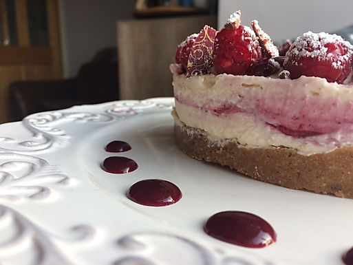 Rose & Red Berry Cheesecake