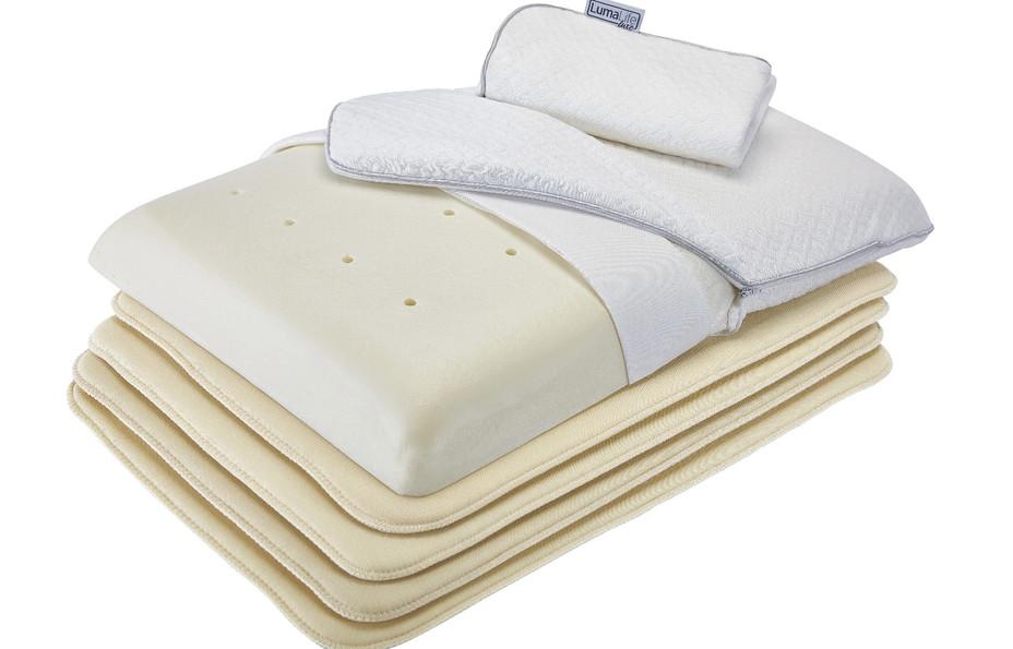 LumaLife Luxe Thin, adjustable height Memory Foam Pillow