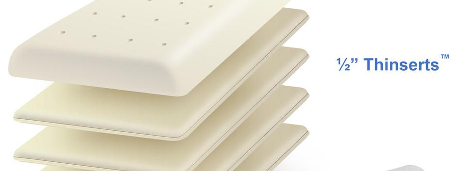 LumaLife Luxe Ultra Thin Memory Foam Pillow