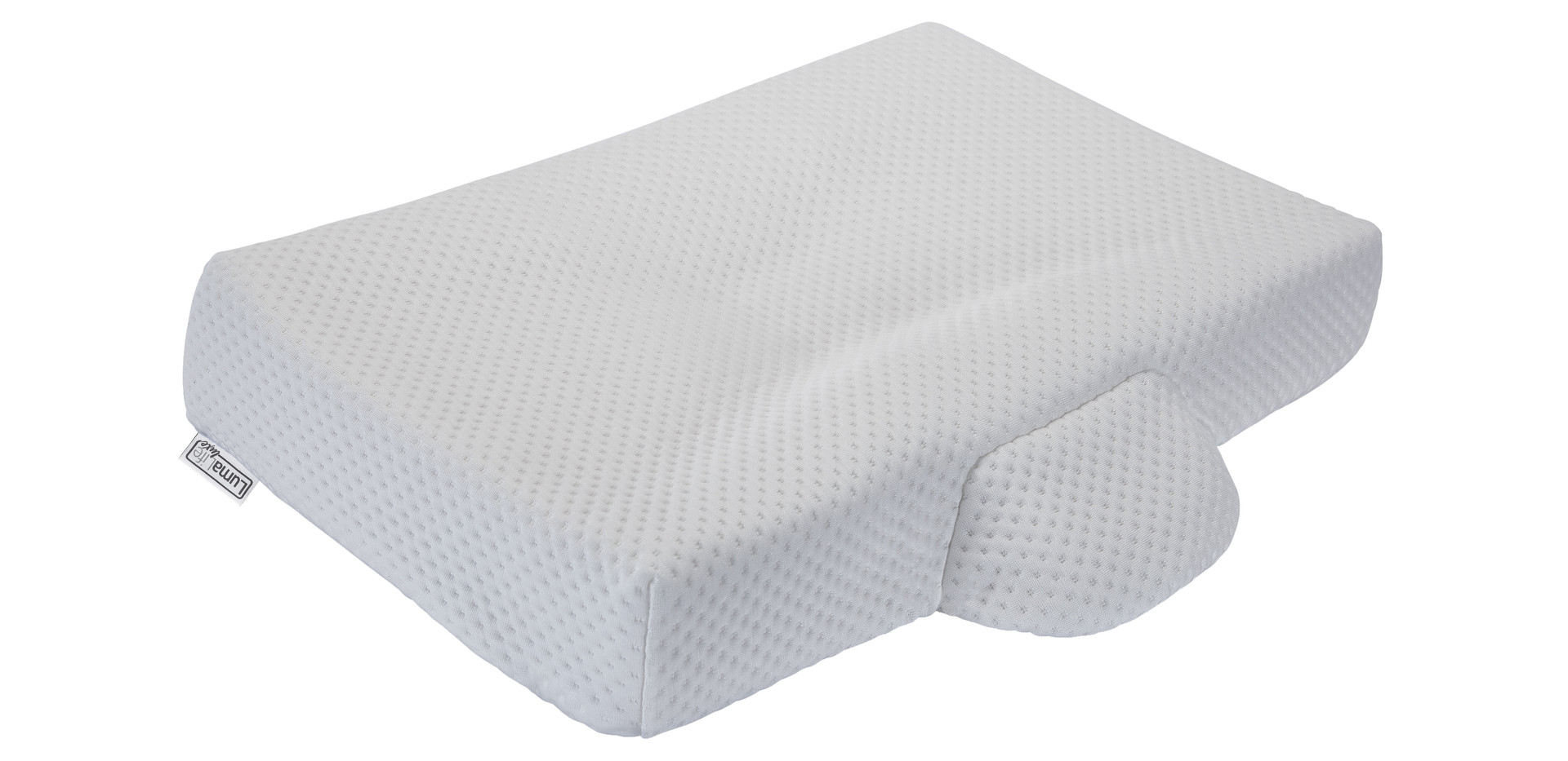LumaLife Luxe Super Slim Orthopedic Contour Pillow in Tencel Cover