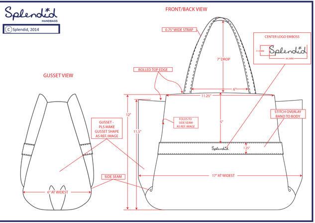 Technical Drawings - Splendid Handbags