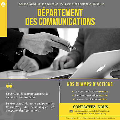 affiche département des Communications d