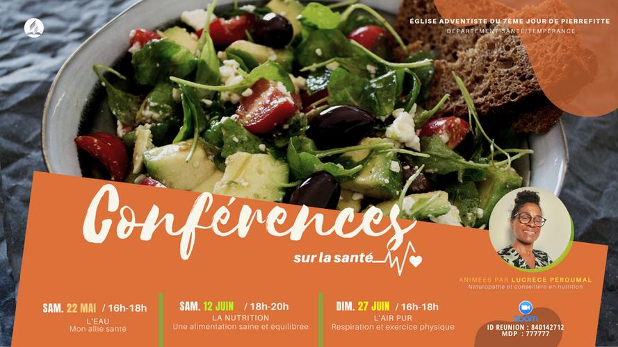 Bannière web conférences santé Mai Juin