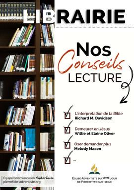 Librairie - conseils lecture
