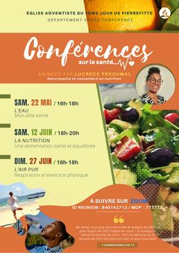 Conférences santé mai juin 2021 du Dépar