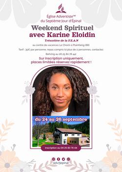 Epinay - Week-end Spirituel avec Karine Eloidin