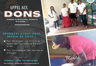 ADRA Villiers-Le-Bel - appel aux dons.pn