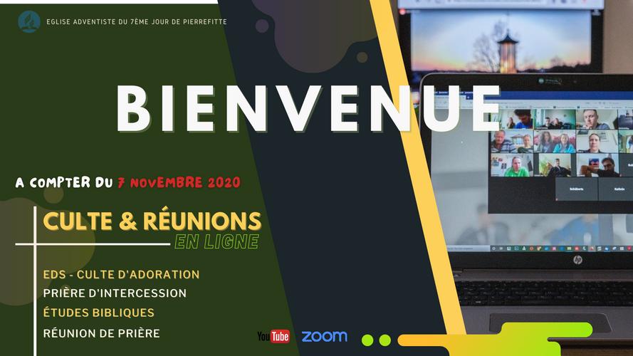 bienvenue - culte en ligne novembre 2020