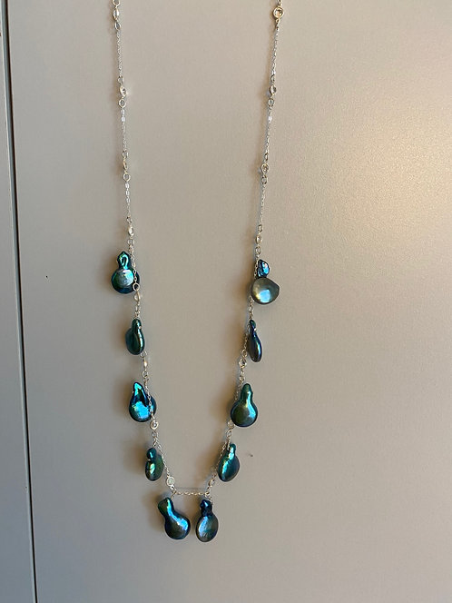 Pearl and Swarovski Necklace