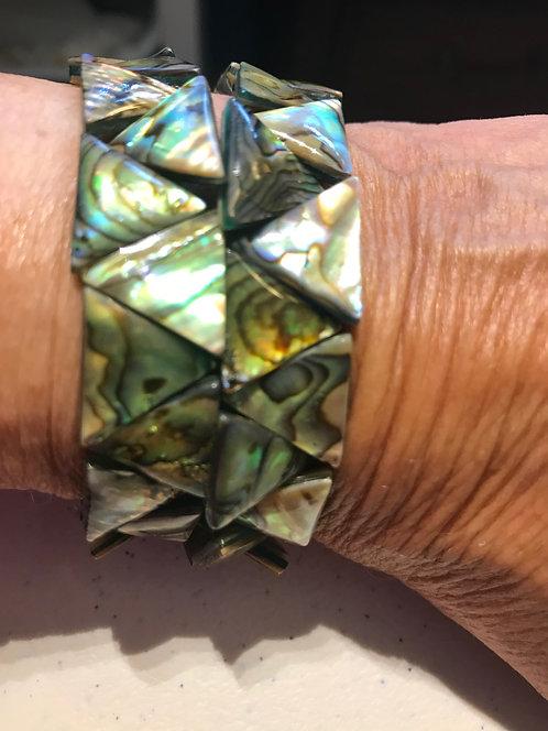 Abalone Bracelet and Earrings