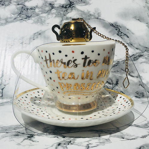 Teacup, Tea and Strainer