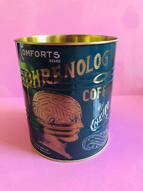 Phrenology Coffee Tin