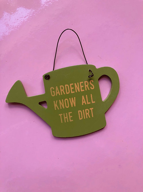 Watering Can Wooden Sign