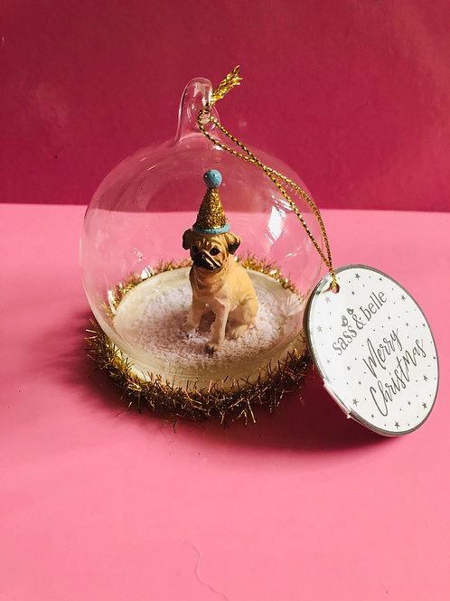 Pug Christmas Decoration