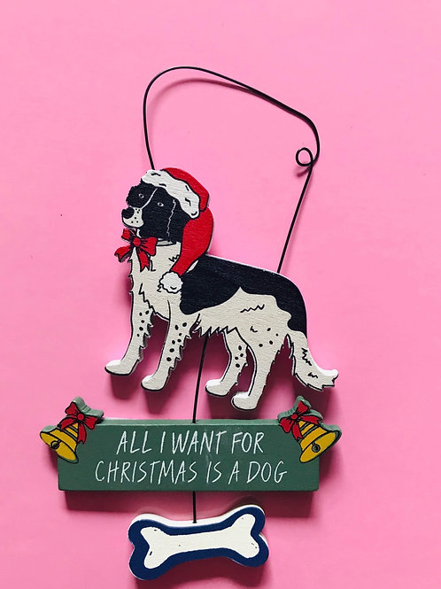 Christmas dog sign