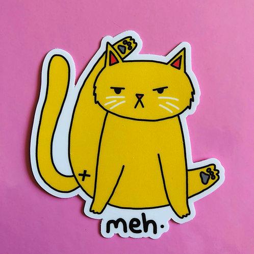 Meh Cat Sticker