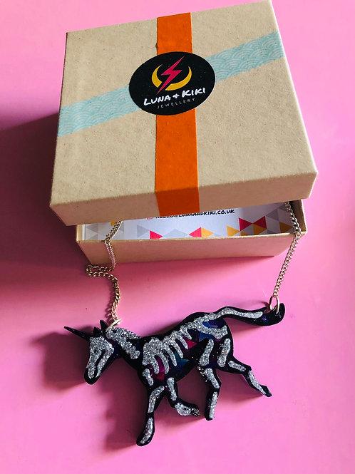 Unicorn Skeleton Necklace