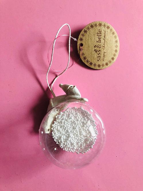 White Santa Bauble