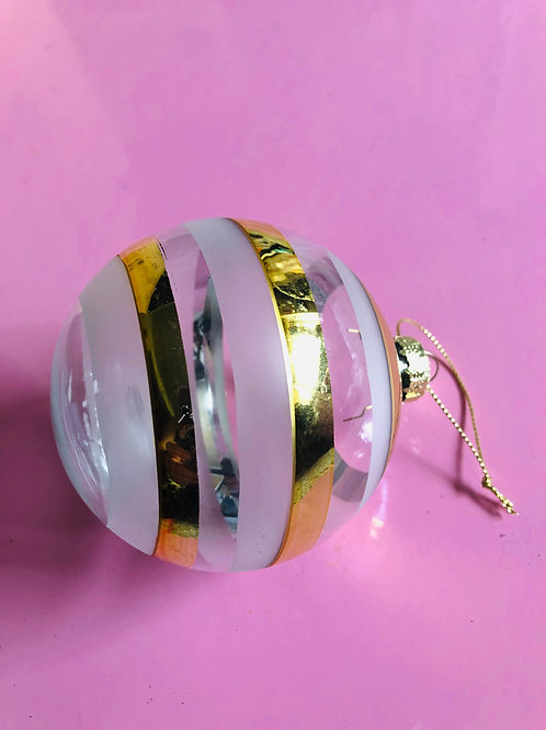 Gold Stripe Bauble