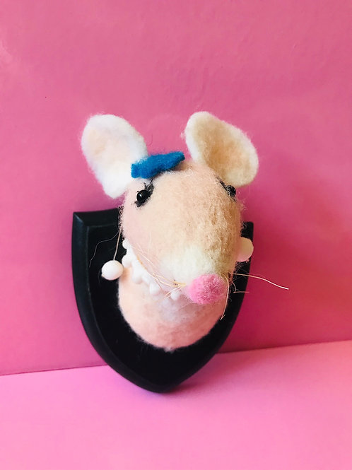 Felted Animal Plaque - Mouse