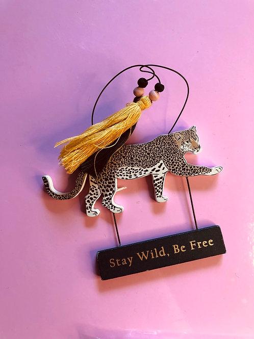 Cheetah Safari Sign (Stay Wild)