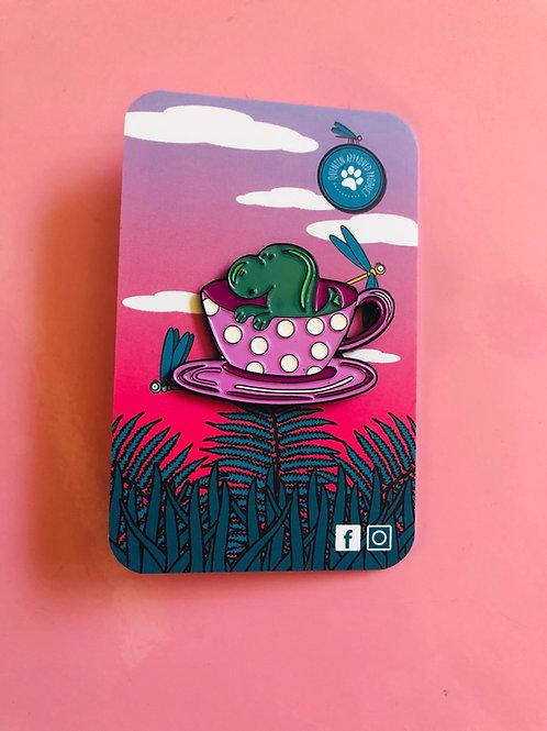 Tea Rex Pin