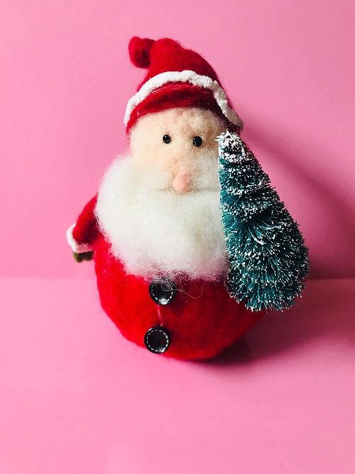 Round Felt Santa