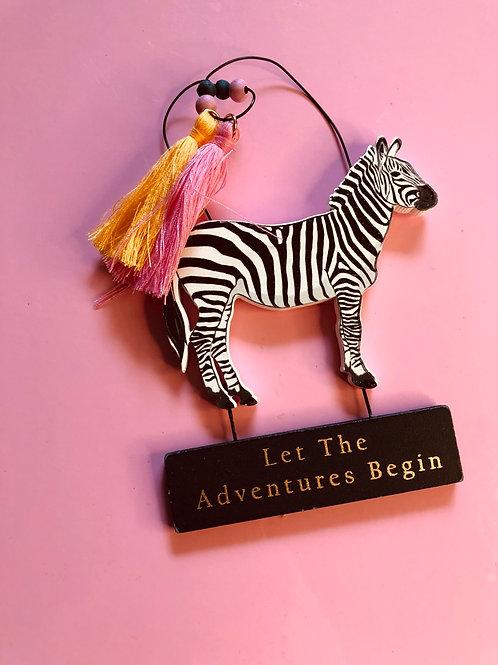 Zebra Safari Sign