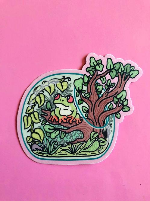 Tree Frog Terrarium Sticker