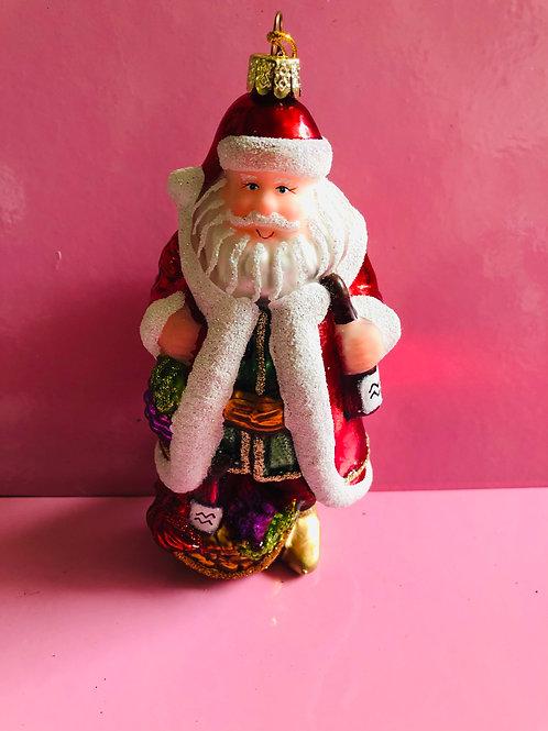 Santa With Grapes