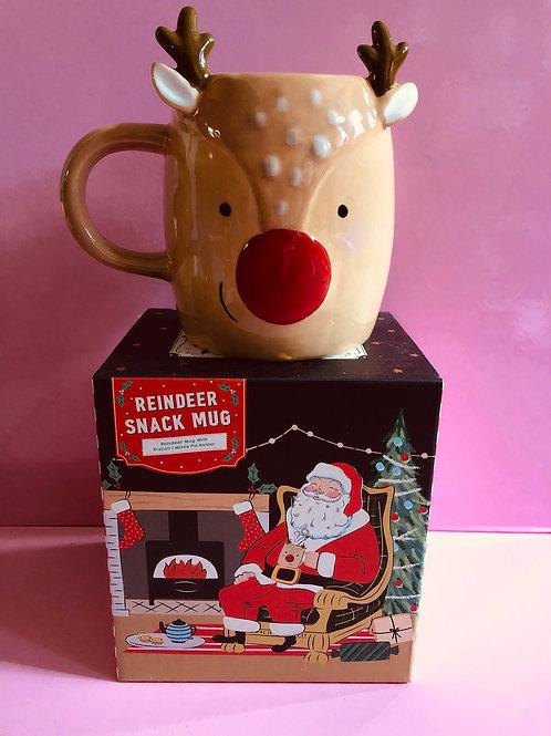 Reindeer Snack Mug