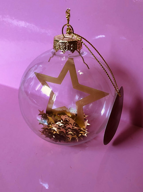 Gold Star Bauble